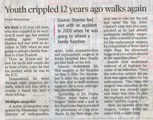 The Hindu_Youth crippled 22 years ago walks again_New Delhi_Pg 5_22 Jan