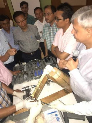 Dr. Dhananjay Gupta attending the CME