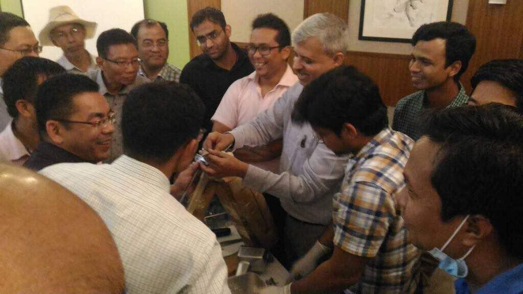 Dr. Dhananjay Gupta explaining the bone models