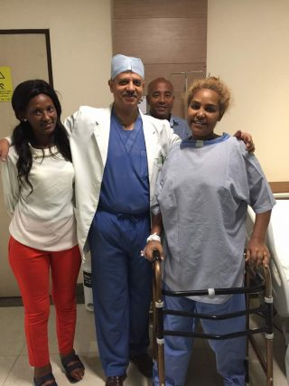 Dr. Dhananjay Gupta performed hip replacement surgery