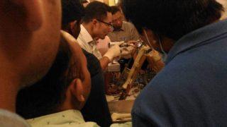 TKR workshop on saw bone models