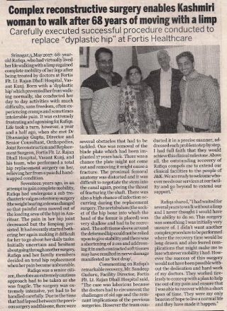 reconstructive surgery done by Dr. Dhananjay Gupta