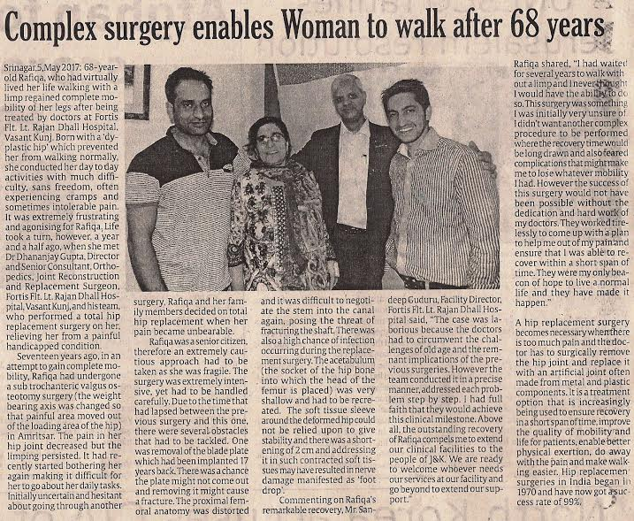 surgery done by Dr. Dhananjay Gupta